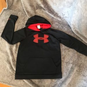 Under Armour hoodie. YXL. Black Red